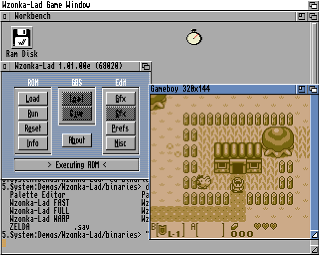 Wzonka-Lad - Yet Another Gameboy Emulator for Amiga Computers